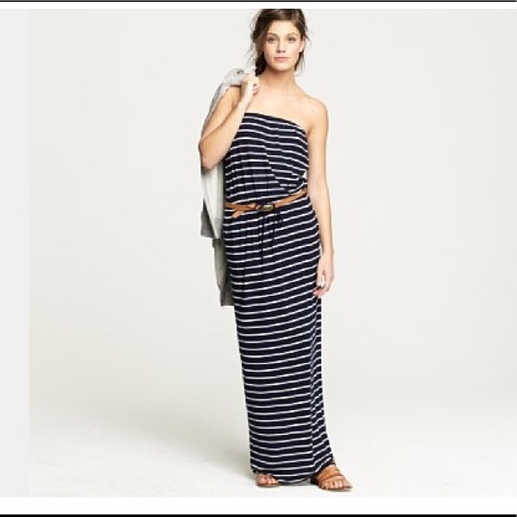 9c4f269c263 J. Crew Dresses   Skirts - Cute JCrew black   white striped knit Maxi dress